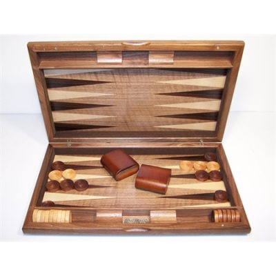 Dal Rossi 38 cm Walnut Burl Backgammon
