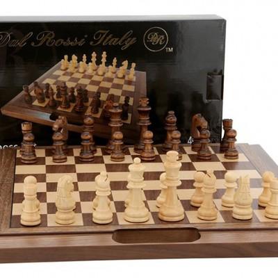 Dal Rossi 30 cm Walnut Folding Chess
