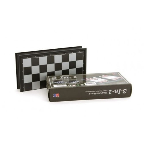 40cm 30 cm 25 cm Magnetic 3 in 1 Chess Checkers Backgammon