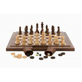 Dal Rossi 40 cm Walnut Chess Checkers Backgammon Dal Rossi 45 cm Chess Checkers Backgammon