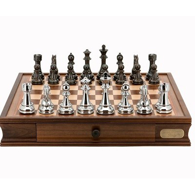 Titanium Black & Silver Chess Set
