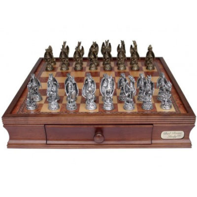 Dal Rossi Pewter Mystical Dragon Chess