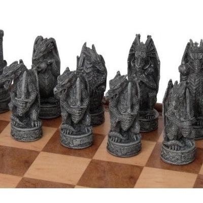 Dal Rossi Resin Dragon Chess