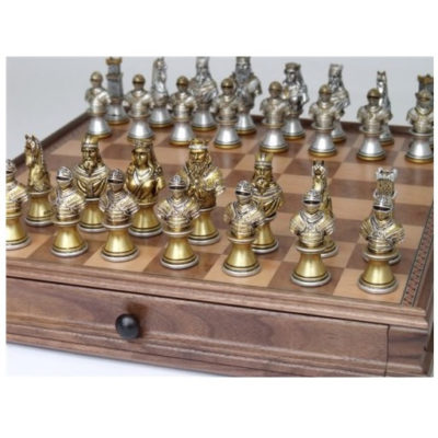 Dal Rossi Medieval Resin Warriors Chess